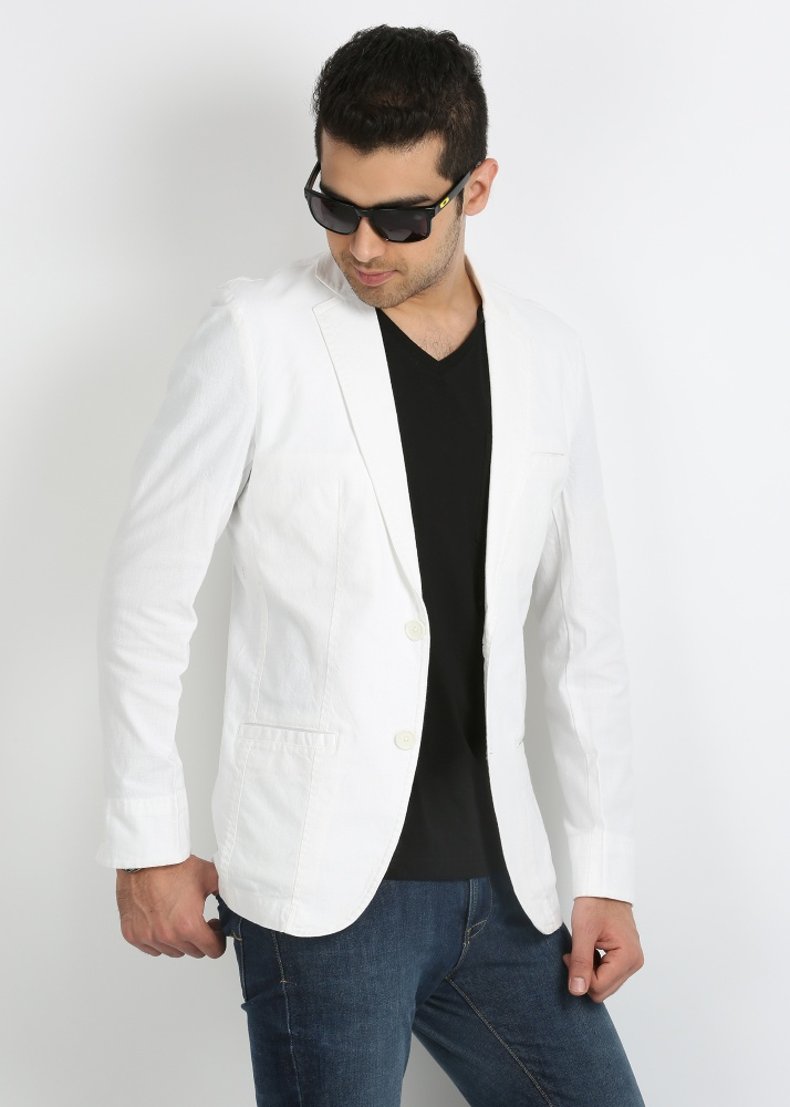 man with white jacket
