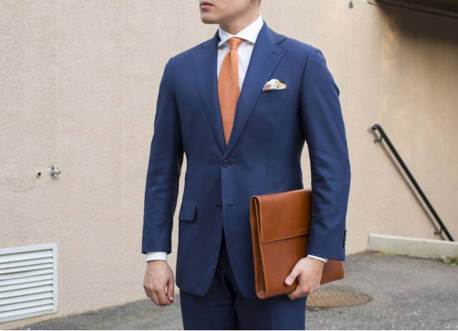 suit and briefcase