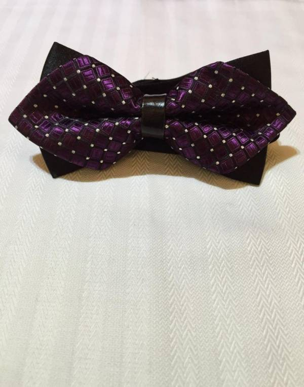 Dark Purple Bowtie