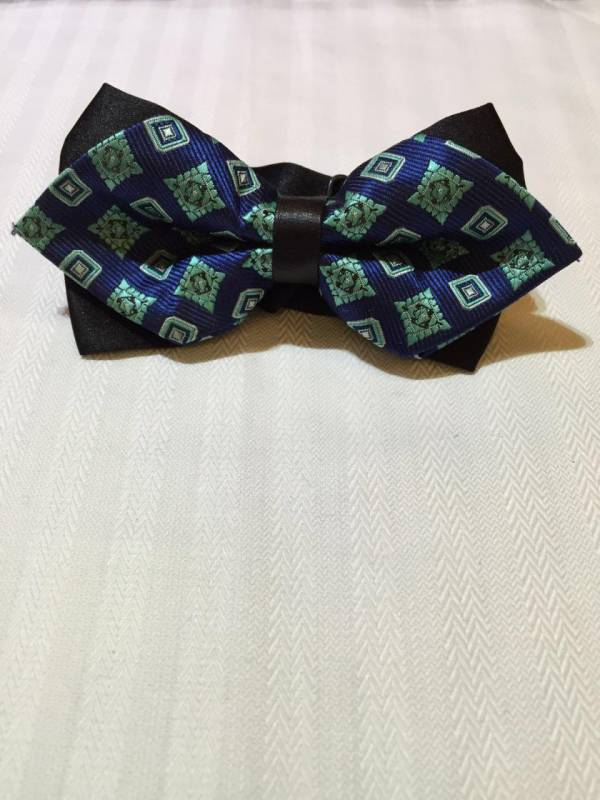 Dark Blue Bowtie with Patterns
