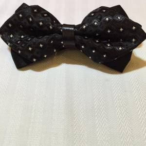 Black Dotted Bowtie