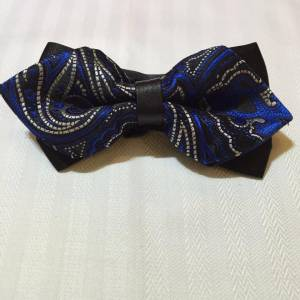 Blue Bowtie with Pattern